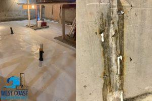 Basement leaks and waterproofing by West Coast Waterproofing BC