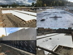 Tanking & membrane for industrial foundations by West Coast Waterproofing BC
